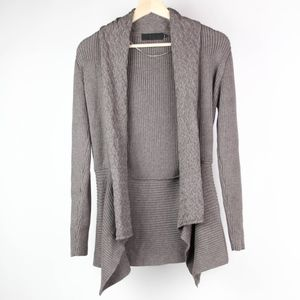 First Light Womens Sweater Open Cardigan Small
